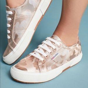 NWOB Superga Rose Gold Camo Print Sneakers